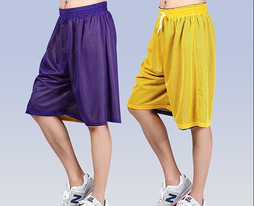 NEW 2021 Summer Outdoor Loose Breathable double-sided Basketball Shorts Fitness practice shorts Men Running shorts XS-XXL