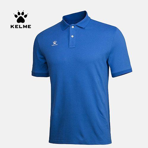 KELME Men's Sport Shirts Training Polo Shirts Team Table Tennis Shirts Quick Dry Running T-shirt  K15F117