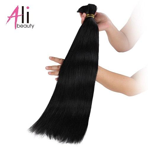 Russia Remy silky Straight Bulk Human Hair For Braiding Bundles 100g No Wefts 18  to 26inch Bulk Hair