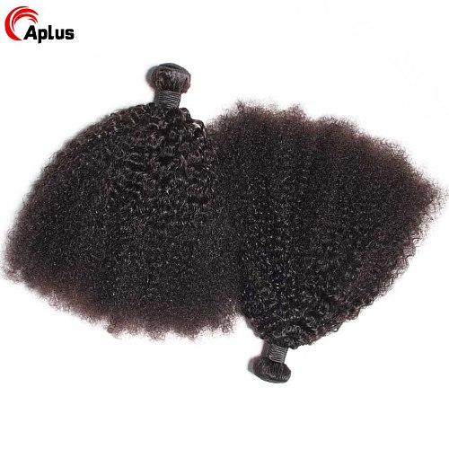 Afro Kinky Curly Bundles Mongolian Kinky Curly Hair Bundles Extension Remy 3 bundles Deal Curly Human Hair Bundles For Women