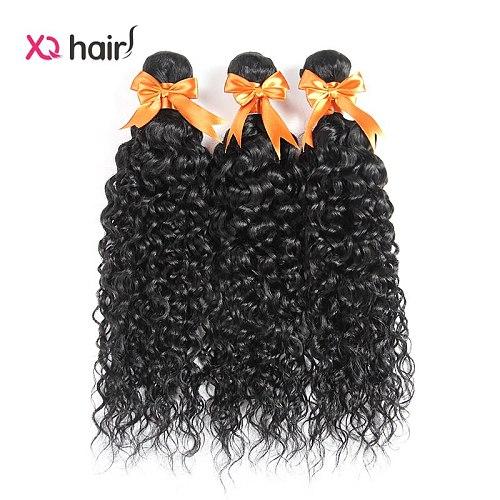 XQ  hair Water Wave Hair 3  Bundles 100%  human hair  Extensions  Natural Color Bundles  Non Remy hair 8-26 inch hair  Bundles