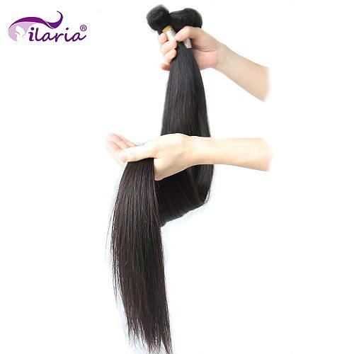 Straight Hair 30 32 34 36 38 Inch 40 Inch Bundles 100% Malaysian Human Hair Weave Bundles Long Virgin Hair Weft 1/3/4 PCS