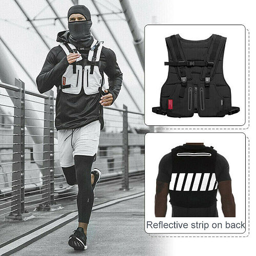 Hot Multi-Function Military Tactical Vest Outdoor Hip hop Sports Fitness Men Protective Reflective Top Vest Cycling Fishing Vest