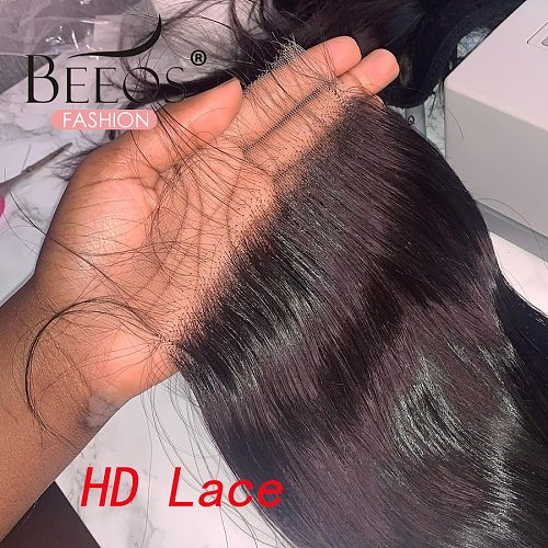 Invisible HD Lace Frontal Closures 5x5 Lace Closure Straight Remy Human Hair With Baby Hair Melt Skins 4x4 HD Lace For Women