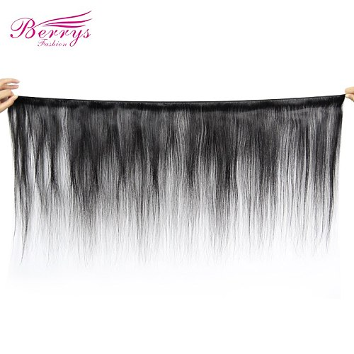 Berrys Fashion Straight Bundles Human Hair Natural Black Color 10-28 inch Remy Brazilian Weave Human Hair Extensions