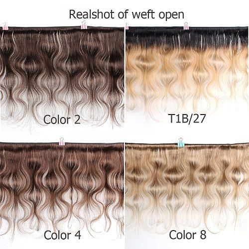 Mogul Hair 1 Bundle Brazilian Body Wave Hair Ombre Honey Blonde Natural Color Dark Brown 1B 613 Remy Human Hair Extension