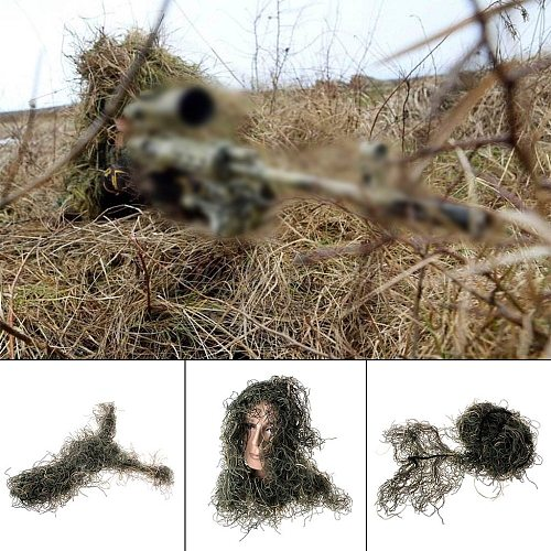 Hunting Rifle Wrap rope grass type Ghillie Suits Gun Cover For camouflage Yowie Sniper Paintball hunting clothing Drop Shipping