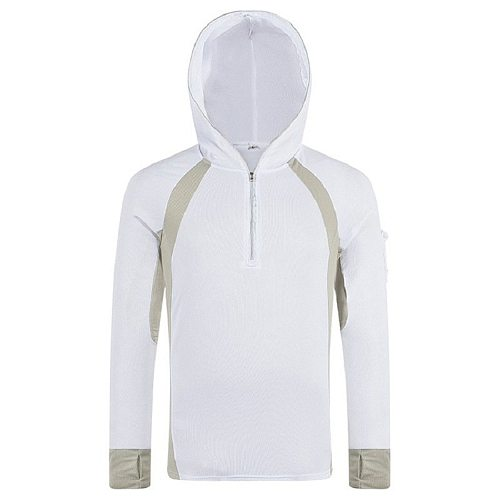 Men Fishing Shirt Anti UV Clothes Sun Protection Hoody Pullover Quick Dry Breathable Fishing Sweater Wears Hiking Climbing Shirt