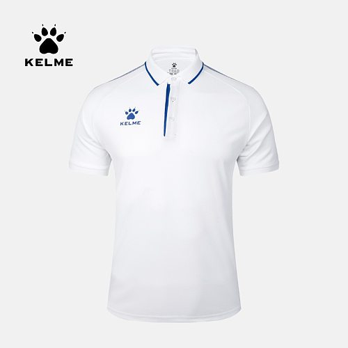 KELME Men's Training Polo T-Shirt  Summer Running Cotton Shirts Casual Short Sleeve Tops High Quantity Polo For Men 3891066