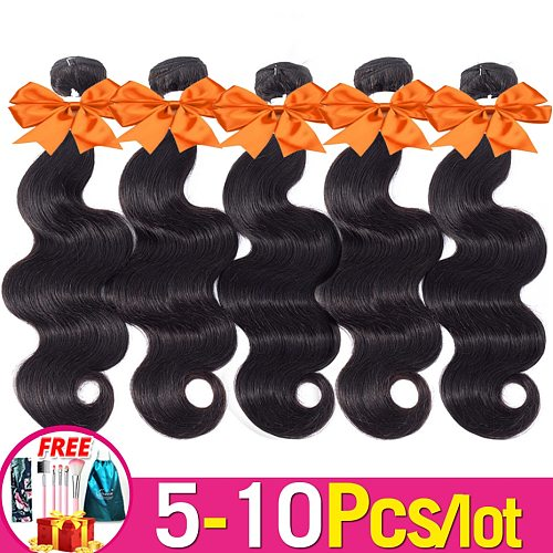 Body Wave Hair 5-10-15 Pcs Natural Color 8-36 Inch Brazilian Hair Weave Bundles Deal Remy Real Human Hair Extensions Jarin Hair