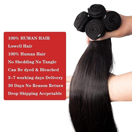 Straight Bundles 30 Inch Human Hair Bundles Brazilian Hair Extensions Human Hair Weave Bone Straight Natural Human Hair Virgin