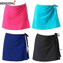 Women's Track And Field Skirt High Waist A Line Women's Tennis Skirt Yoga Running Skirt Bandage Sports Skirt Tracksuit Woman