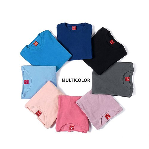 CAMEL Outdoor Sports Long Sleeve Fleece Shirt 2019 Autumn Thermal Hiking Shirts Couple Shirts Warm Coat Multicolor