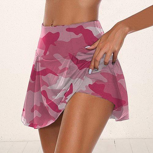 2020 Athletisch Golf Sport Einfarbig Workout Volleyball S-5XL Tennis Running Skort Skirt  Athletic Yoga Fitness Skirts