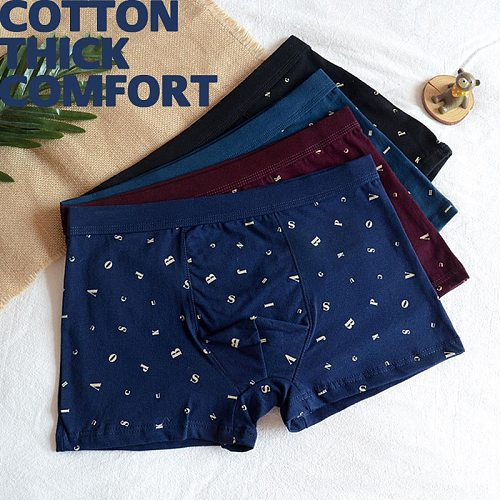 64-88 Quality Male Thick Cotton Boxer Underwears Man Child KIDS Boy Youth Student Breathable Briefs Not Triangle Soft Underpants