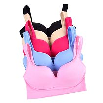 Sports Bra 5 Colors Ladies Padded Push up Yoga Fitness Daily Wear Wire Free Bra Seamless Full Cup Solid Sports Top