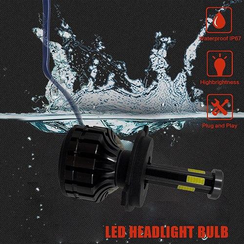 2021 3D 6-COB 360 Degree Lamp H11 LED Fog Lights H7 LED H4 Car Headlights Bulbs 9005 9006 HB4 Auto Lamp H1 LED Bulb 3000K 8000K