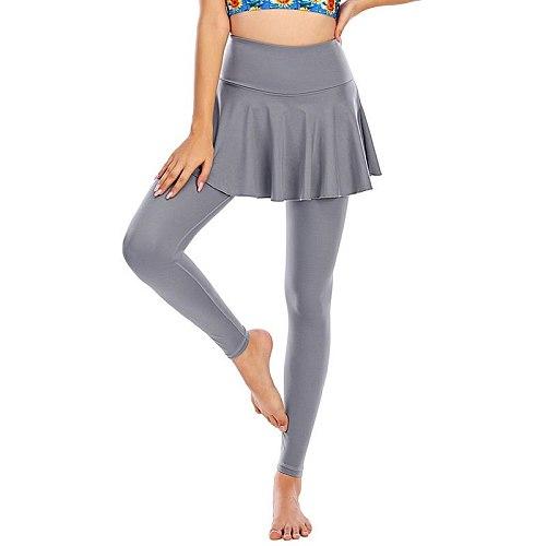 Cloud Hide Women Tennis Skirts Badminton Golf Dancing Skorts Leggings High Waist Fitness Workout Athletic Running Autumn Winter