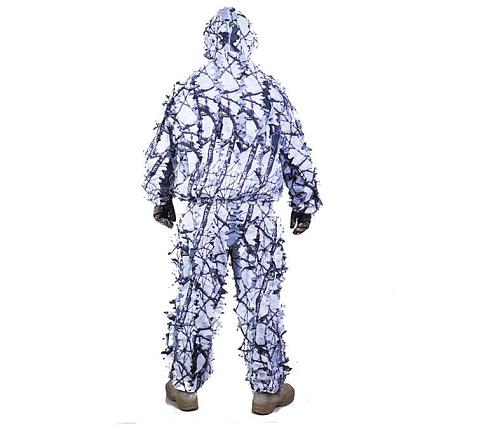 TPRPST 3D white snow plum tree branches style camouflage ghillie suit birdwatch airsoft hunting clothes include jacket and pant