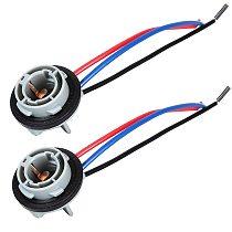 2pcs Car Brake Light 1157 Bulb Socket BAY15D Lamp Holder P21/5W Adapter Base Connector Accessories