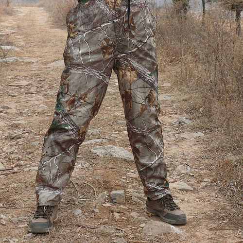 Thin Man Army Clothing Tactical Military Straight Trousers bionic camouflage pants Suitable for Hiking Fishing jungle hunting