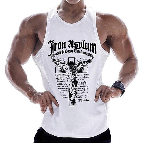 New Sleeveless Sport T Shirt Gym Top Running Vest Men Fitness Bodybuilding Tank Top Gym Training Tshirt Undershirt Sport Vest