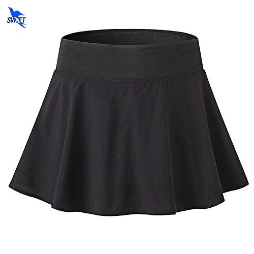 2 In 1 Sports Tennis Yoga Skirts with Shorts Badminton Fitness Short Skirt Ladies Quick Drying Women Anti Exposure Running Skirt