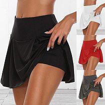 2020 Sports Skirts Women's High Waist Pleated Short Dress Badminton Volleyball Running Cheering Beach Dance Safety Skorts
