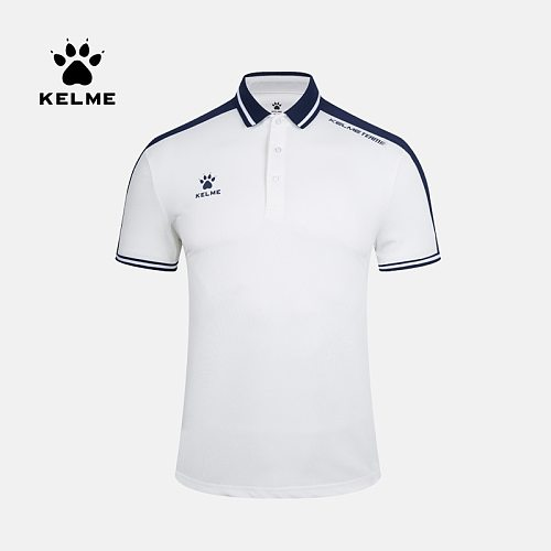 KELME Men's Training Polo T-Shirt  Summer Running Cotton Shirts Casual Short Sleeve Tops High Quantity Polo For Men 3891068