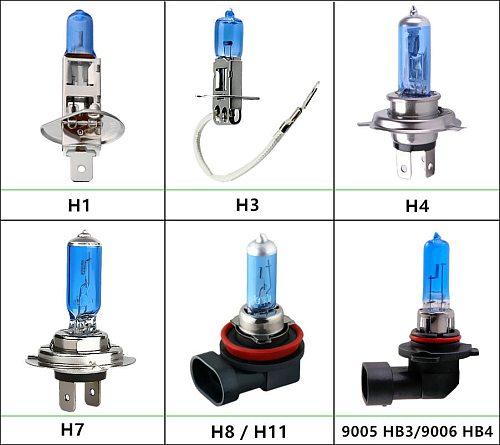 10pcs Halogen Bulbs Super Bright H1 H3 H7 H4 H11 HB3 HB4 HB5 9004 9005 9005 9007 White Fog Light 100W Car Head Lamp 12V