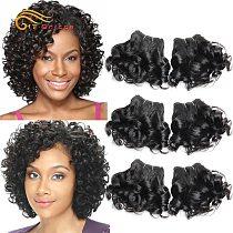 Curly Human Hair Bundles 100% Human Hair Bundles Brazilian Hair Weave Bundles 6 Pcs/Lot Color 1B/2/4/30/33/99J Curly Hair