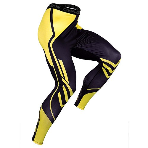 Pressure Compression Pants Men Running Sport Gym Fitness Jogging Quick Dry Compression Tight Workout Training Men Pants
