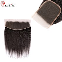 4*4 Lace Closure 13*4 Lace Frontal Yaki Straight Closure Frontal Kinky Straight 100% Remy Human Hair Pre Plucked With Baby Hair