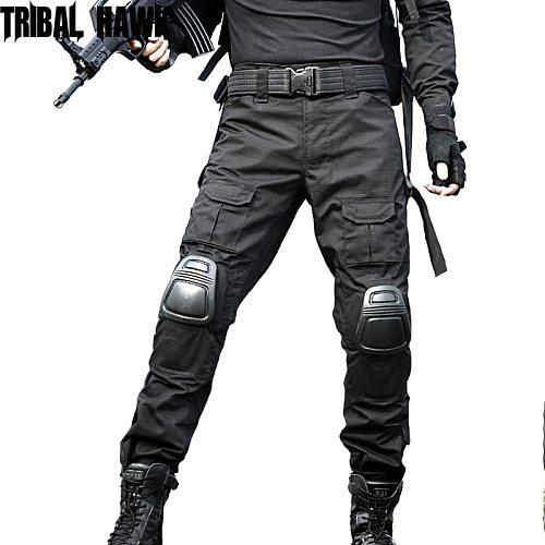 Military Tactical Pants with Knee Pads Army Camouflage Cargo Pants Frog Pants Men SWAT Working Combat Trouser Hunting Pantalon