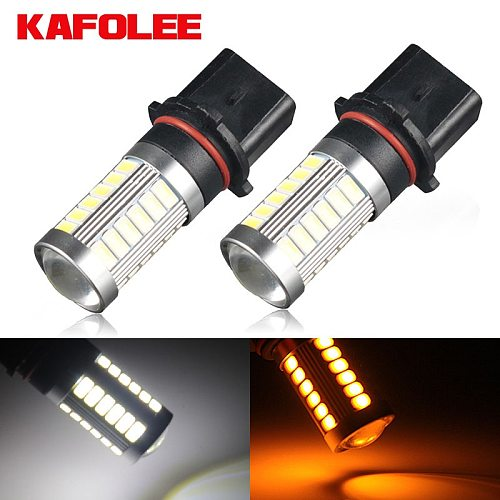 KAFOLEE 2Pcs P13W Led PSX26W SP13W 6000K 3000K 12V 24V White Car Fog Light Driving DRL Daytime Running Lamp Auto