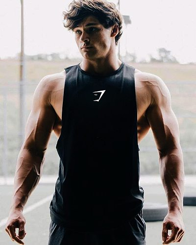 New Men Compression Vest Muscle Cotton Running Quick Dry Breathable Vest Summer New Men's Fitness Sleeveless Shirt Men Tank Top