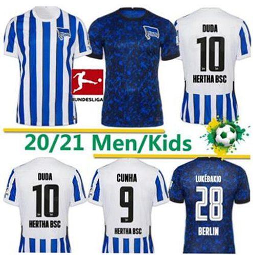Hertha BSC-Maillot de pie PIATEK 2020 2021, Maillot de pie, CUNHA, GUENDOUZI, Berlin, Hertha, TOUSART, LUKEBAKIO, Maillot