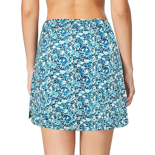 Plus Size Women's Sexy Print Sport Active Mini Skorts With Pocket Running Tennis Golf Workout Sportwear Skirt-shorts For Ladies
