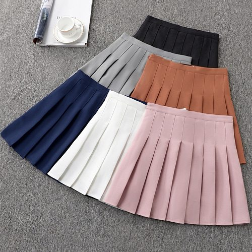Large Girls A Short Dress High Waist Pleated white Tennis Skirt with shorts tennis pleated skirt for Cheerleader Teen skirts