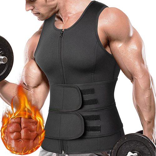 Men Sweat Vest Sauna Suit Waist Trainer Vest for Weight Loss Slimming Body Shaper Workout Tank Tops Shapewear Compression Shirts