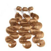Body Wave Brazilian Human Remy Hair Extension Double Drawn 3pcs 613 Color Light Black Brown Blonde Bundle 99J 27 30 Red Burg 33