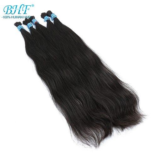 BHF No Weft 100% Human Braiding Hair Bulk Vietnam Remy Straight Bundles 100g Natural Braiding Hair Extensions
