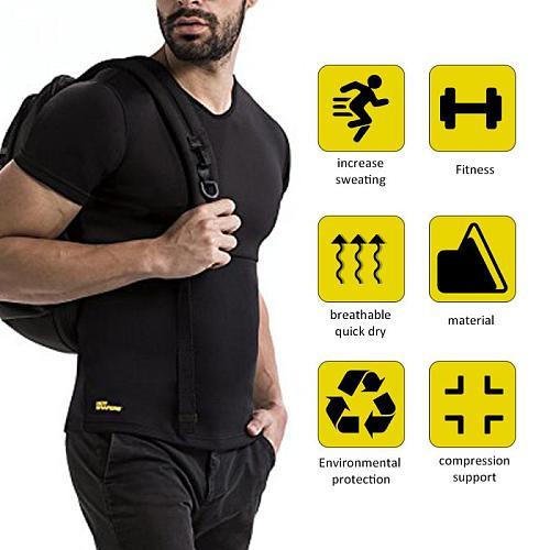 Slimming Belt Belly Men Slimming Vest Body Shaper Neoprene Abdomen Fat Burning Shapewear Waist Sweat Corset Dropshipping