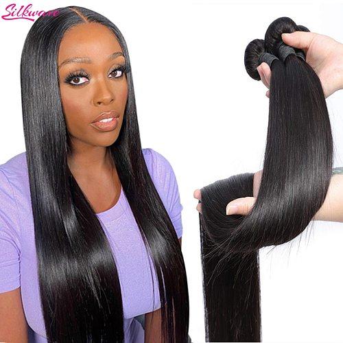 Bone Straight Human Hair Bundles 30 Inch Extensions Human Hair Bundles Weave Bundles Hair 3 4 Bundles Deal Brazilian Hair Bundle