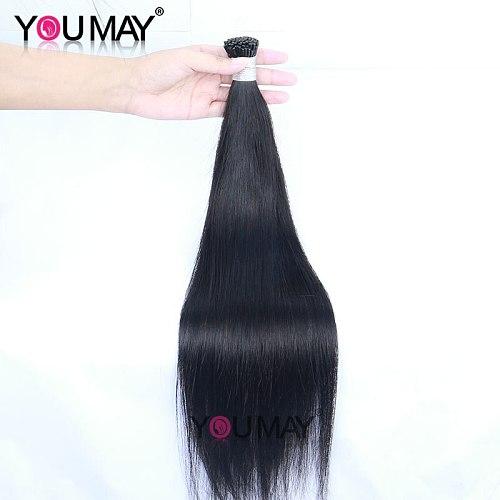 Silky Straight Microlinks Hair Bulk Extenstions 100Grams/Bundles 1&2&3 Bundles I Tip Human Hair Microlinks YouMay Virgin Hair