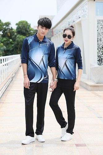 New Men/Women badminton long sleeve shirt pants,table tennis T shirts,tennis training jerseys sets sportswear trousers tracksuit