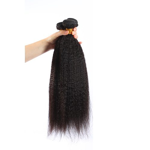 M&H 9A Kinky Straight Bundles 100% Human Hair Weave Bundles Non-Remy Coarse Yaki Straight Hair
