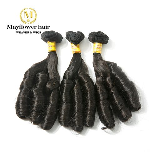 MFH Double drawn Remy Hair extension Funmi hair Natural color Romance curl  10-18  mixed length 1/2/3/4 bundles Free shipping