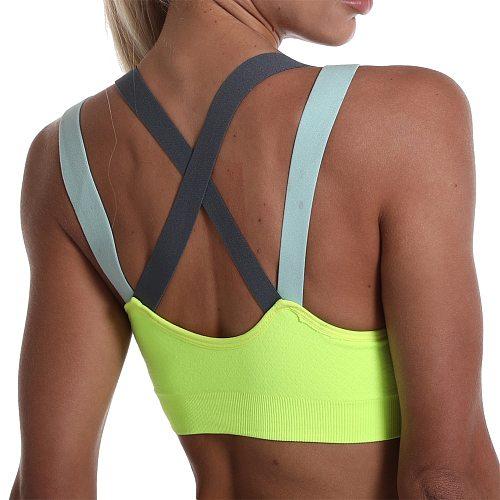 Sports Bra for Women Gym Seamless High Impact Sports Bra Yoga Fitness Top Female Underwear Push-up bra Sportswear bralette