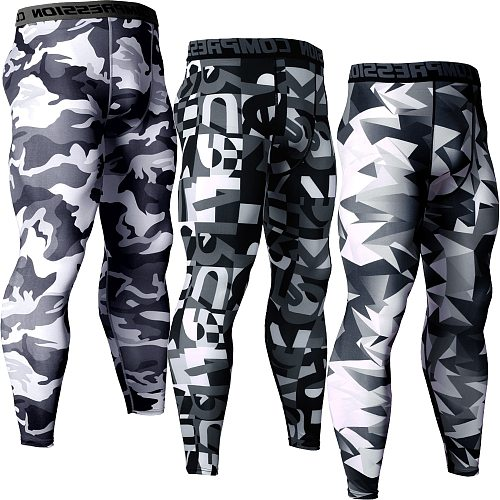 Plus Size Mens Compression Pants Running Leggings Sport Training Yoga Bottoms Tights Sportswear Trousers Quick Dry Gym Jogging